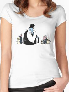 Ice King Crossover Penguin Women's Fitted Scoop T-Shirt