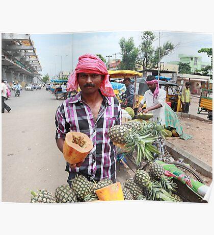Fruit Vendor  Poster