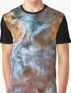 Abstracted Nebula Design Prints Graphic T-Shirt