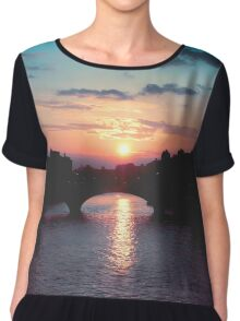 Sunset over the Seine, Paris Chiffon Top
