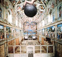 Miley Cyrus in the Sistine Chapel by fraserahwhite