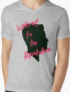 Mr Robot: Welcome to the Revolution, Elliot Binary Head Mens V-Neck T-Shirt