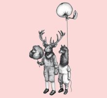 Deerboy and Alpacaboy at the fun fair Kids Clothes