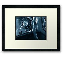 Blue Dash Framed Print