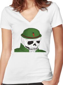 Warzone Hellions Skull Soldier Women's Fitted V-Neck T-Shirt