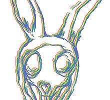 Rainbow Rabbit by EmeraldSkye