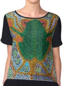 Psychedelic Frog Chiffon Top