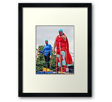 Masked Man and Masked Wife Framed Print