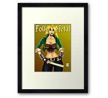 Folk Metal Chick Framed Print
