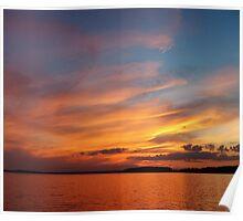 Sunset Sea Poster