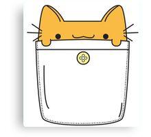 Pocket Cat - Orange Canvas Print