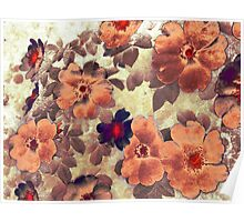 Vintage Roses Hips Colours Poster