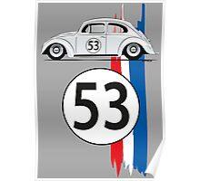 VW Beetle Herbie Poster