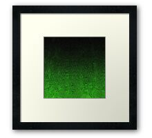 Green & Black Glitter Gradient Framed Print