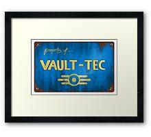 Property of Vault tec Framed Print