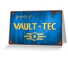 Property of Vault tec Greeting Card