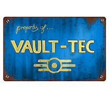 Property of Vault tec Photographic Print