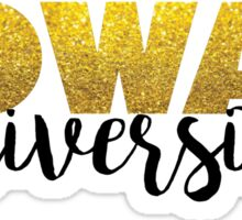 Rowan University Glitter Sticker