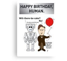 A Doctor Who/Cyberman Birthday Card Canvas Print