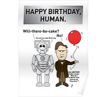 A Doctor Who/Cyberman Birthday Card Poster