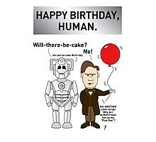 A Doctor Who/Cyberman Birthday Card Photographic Print