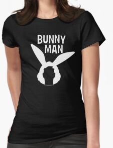"""Official """"Bunny Man"""" Logo Tshirt in White Womens Fitted T-Shirt"""