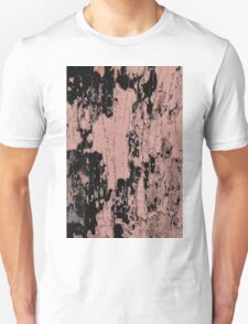 Grunge Pink and Black abstraction Unisex T-Shirt
