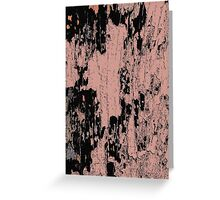 Grunge Pink and Black abstraction Greeting Card