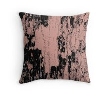 Grunge Pink and Black abstraction Throw Pillow
