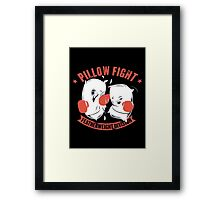 pillow fight feather weight division Framed Print