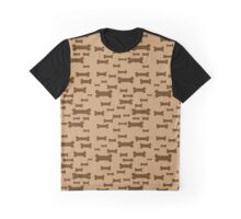 Dog biscuits on brown Graphic T-Shirt