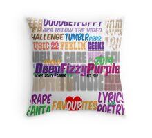 Deep Fizzy Purple - The Pillow Throw Pillow