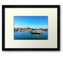 """Where The Boats Sleep"" Photo / Digital Painting  Framed Print"