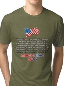 RUBIO NEW TAXES Tri-blend T-Shirt