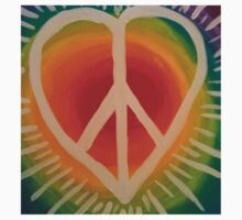 Peace, Love and Happiness Baby Tee