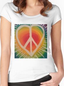 Peace, Love and Happiness Women's Fitted Scoop T-Shirt