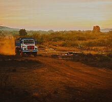 Orange roads of Maharashtra by Anna Alferova