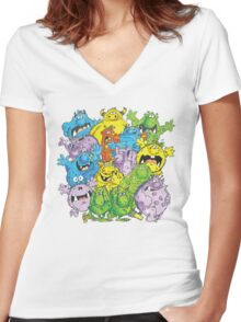 Real 'lil' Monsters Women's Fitted V-Neck T-Shirt