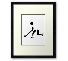 Hockey Player icon Framed Print