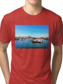"""Where The Boats Sleep"" Photo / Digital Painting  Tri-blend T-Shirt"