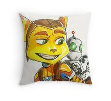 Ratchet and Boi Throw Pillow