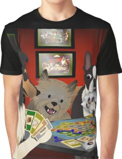Dogs Playing Settlers of Catan Graphic T-Shirt