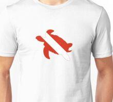 Sea Turtle Scuba Diver Silhouette Unisex T-Shirt