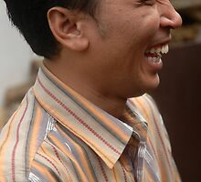 man laughing expression by bayu harsa