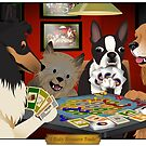 Dogs Playing Settlers of Catan by Dyna Moe