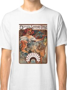 'Biscuits Lefevre-Utile' by Alphonse Mucha (Reproduction) Classic T-Shirt