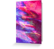 Purple Slick - Abstract Print  Greeting Card
