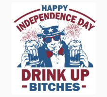 4th of July Tank Top - Drink Up Bitches by 785Tees