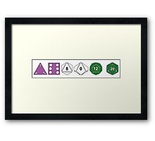 Genderqueer Pride (Polyhedral Edition) Framed Print