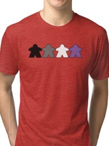 Asexual Pride (Minimal Meeple Edition) Tri-blend T-Shirt
